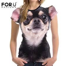 2019 <b>FORUDESIGNS</b> Kawaii Chihuahua <b>Women T Shirt Woman</b> ...