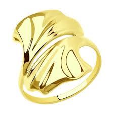 <b>Кольцо</b> из <b>желтого</b> золота арт. 018707-2 от <b>SOKOLOV</b>
