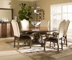 Dining Room Accent Furniture Dining Room Upholstered Dining Chairs And Large Dining Table For