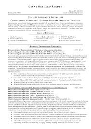 best photos of resumes for government contract specialist in quality assurance manager resume samples