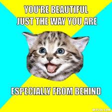 fuck-ya-happy-cat-meme-generator-you-re-beautiful.jpg Photo by ... via Relatably.com