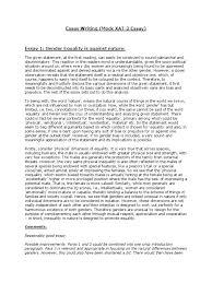 essay writing gender equality gender