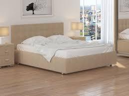Купить Кровать Veda 1 (Ткань: Рогожка Глазго бежевый со ...