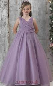 Purple Satin Chiffon V-neck <b>Sleeveless Floor</b>-<b>length</b> A-line ...
