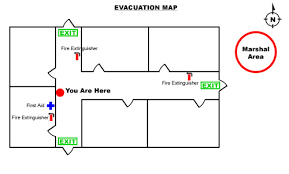 How to Create an Emergency Evacuation Map for your Business    Sample Evacuation Map