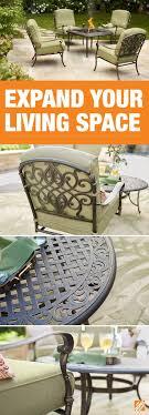 depot patio furniture semi circle