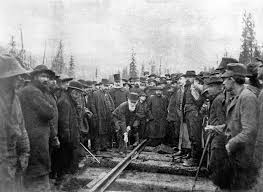 this is a long extended essay on the canadian pacific railway in the last last spike of the canadian pacific railway craigellachie british columbia