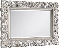 Julian Bowen <b>Baroque Wall Mirror</b>, White: Amazon.co.uk: Kitchen ...
