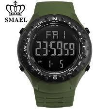 <b>SMAEL Men</b> Sports Watches Countdown <b>Double</b> Time Watch Alarm ...