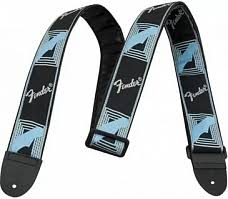 <b>FENDER</b> 2' MONOGRAMMED STRAP BLACK/LIGHT GREY/BLUE ...