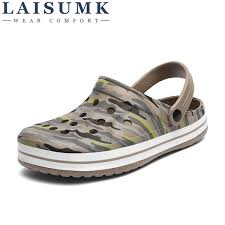 <b>2019 LAISUMK Men Shoes</b> Beach Casual Men'S Slippers Hollow ...