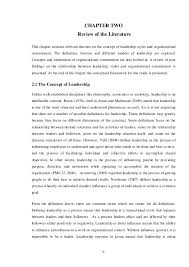 CHAPTER TWO Review of the Literature