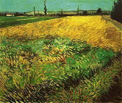 <b>Wheat Field with</b> the Alpilles Foothills in the Background, 1888 ...