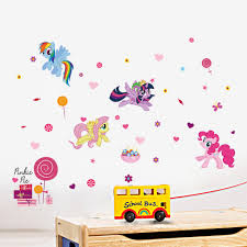 online get cheap christmas posters com alibaba 3d cartoons my little pony height measure wall stickers for kids room butterfly flower star clouds wall poster christmas gift