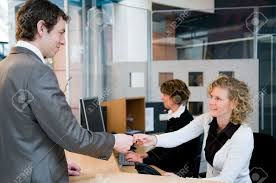 reception or front desk in an officebuilding stock photo picture reception or front desk in an officebuilding stock photo 4718460