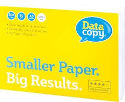 "<b>Бумага</b> офисная <b>A5</b>, класс ""A+"", ""<b>Data copy</b>"", 80 г/м, 500 листов ..."