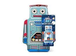 """<b>Ланч</b>-<b>бокс</b> """"<b>robot</b>"""" (<b>Suck uk</b>) синий сталь 24x8x16 см. 44033 ..."""