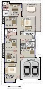 Bed Room House Plan  Narrow Block Design Australian Houses    narrow lot floor plans