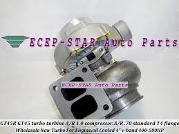 <b>GT45 GT45R</b> 2 <b>Turbo Turbocharger</b> Turbine. A/R 1.0 Compressor. A ...
