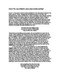 college essays  college application essays   lady of shalott essaylady of shalott essay