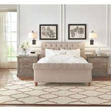 gordon queen size sleigh bed in natural linen amazing home depot office chairs 4 modern