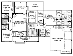 House Plan at FamilyHomePlans comRanch Traditional House Plan Level One