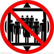 Resultado de imagem para proibido elevador