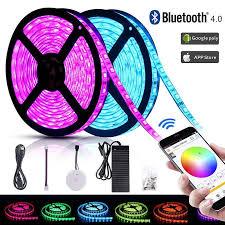 <b>DC24V</b> 32.8ft (10m) <b>RGB LED</b> Strip Lights WIFI Smartphone App ...