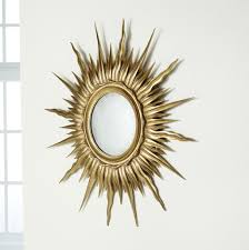 mirror wall decor circle panel: home decoration elegant gold sunburst mirror wall decor with round wall mirror decor for exciting
