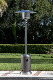 output stainless patio heater: mocha and stainless steel commercial patio heater
