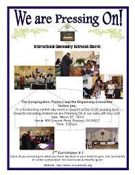 international community coutreach church fundraiser fundraiser flyer
