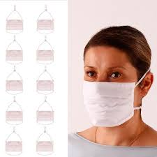 Two-layer reusable <b>protective</b> mask   White <b>10 pieces</b>   Pilguni