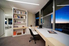 bright office design with amazing city bright office