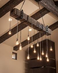 rustic kitchen decor contemporary hanging lighting and wood barn beams barn lighting create rustic