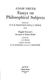 essays on philosophical subjects        adam smithessays on philosophical subjects