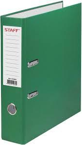 <b>Папка</b>-<b>регистратор</b> Staff, А4, корешок 70 мм, 225981, зеленый ...
