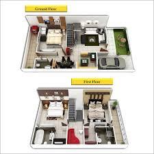 Residential Duplex d Floor Plan Duplex House Plans d View From    Type A
