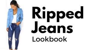 How to <b>Style</b> Distressed <b>Denim</b> / <b>Ripped Jeans</b> - YouTube