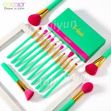 <b>Docolor</b> Heat <b>Makeup Brushes</b> Set <b>14Pcs Makeup Brush</b> ...
