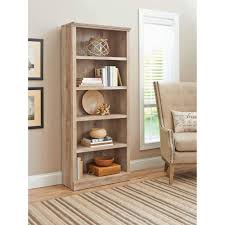 bookcases office furniture walmart com better homes and gardens crossmill 5 shelf bookcase multiple finishes better homes and gardens lighting