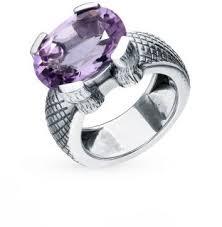 Серебряное <b>кольцо</b> с <b>аметистом</b> LIBERI 1020037077-5: белое ...