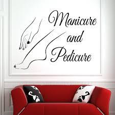 <b>Vinyl</b> Wall Window Decal Nail Art Polish <b>Wall Sticker Beauty</b> Salon ...
