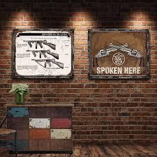<b>Gun Vintage</b> Metal Plate <b>Tin Signs</b> Wall Poster Decals Plate Painting ...