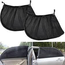 2Pcs <b>Car Sun Visor</b> Rear Side <b>Window Sun Shade</b> Mesh Fabric Sun ...