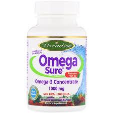 Paradise Herbs <b>Omega Sure Omega-3 Premium</b> Fish Oil 1 000 mg ...