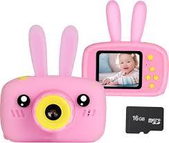 Детский цифровой <b>фотоаппарат</b> Зайка (розовый) — купить в ...