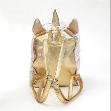<b>New arrive 10pcs lot</b> Sequins Unicorn Backpack Fashion Glitter ...