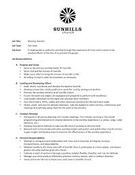 music job opportunities music worship director job description
