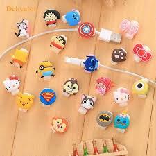 Dehyaton <b>Cartoon Cute</b> Lovely Usb Protector <b>Cable</b> Case Clip For ...