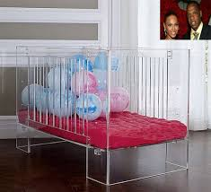 lucite crib for beyonce and jay z baby daughter beyonce baby nursery